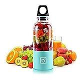 Bingo Portable Juicer Cup , Couper les fruits Slicer - Rechargeable par USB, 500 ml, Mixeur électrique - Mélanger les fruits, les légumes, les aliments pour bébés - pour la maison, le voyage et les sp
