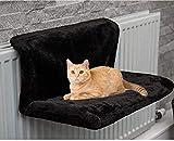 ADEPTNA Lit de luxe pour chat ou chaton à suspendre sur radiateur avec panier en polaire chaude et cadre en métal solide et durable