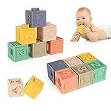 WolinTek Blocs de bébé Souples Jouets pour de Dentition Jouet éducatif Squeeze Jouer avec des nombres Formes d'animaux Textures 6 Mois et Plus,Jouets éducatifs,6PCS