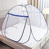 Moustiquaire Pop Up pour lit double, fermeture à glissière à double porte, tente portable, moustiquaire de voyage, installation facile et rapide