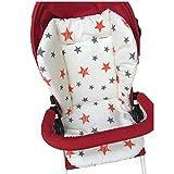 YZLSM 1pc Poussette bébé Respirant Seat Pad Voiture Seat Liner Chaise Haute Coussin Doublure Tapis Coton Coussin de Couverture de Protection pour bébé Nourrisson (Star)