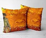 Housses de coussin carrées pour chambre à coucher - Convient pour : canapé, lit, chaise, banc - Django non chaîné de 2,5 x 45,7 cm