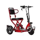JHKGY Scooters De Voyage Portatifs Légers À 3 Roues,Scooter De Mobilité Électrique Pliable Scooter Électrique De Voyage pour Personnes Âgées/Handicapées/en Plein Air