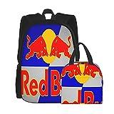 R_Ed Poster Bu_Ll Ensemble sac à dos d'école, sac à déjeuner et sac à dos imprimé 3D, toile de voyage, camping
