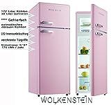 Combiné réfrigérateur congélateur - Style rétro - Rose brillant - GK212.4RT - A++ - 206l