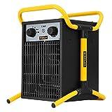 Stanley ST-033-230-E Radiateur électrique soufflant de chantier 1 stade 40 W / 1650 W / 3300 W / 230 V 50 Hz, Noir/Jaune
