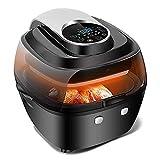 ZXJ Air Fryer, 6L Multifonction Smart Touch Cuisine Cuisine Cuisson Cuisine Deep Fryerf ou Huile Saine Gratuit & Bas Huile Cuisine, Noir