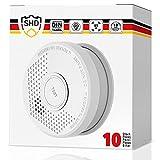 SHD Détecteurs de fumée Alarme incendie certifiée DIN EN14604 et NF Ensemble de 10