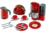 Klein 9564 Set petit-déjeuner Bosch, grand modèle | Avec grille-pain, cafetière automatique, bouilloire et accessoires | Dimensions de l'emballage: 44,5 cm x 13 cm x 34 cm | Dès 3 ans