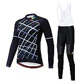 Wsaman Vêtements de Cyclisme, Femme Maillot de Cyclisme Fleurs Vêtements de Cyclisme Ensemble Maillot à Manches Courtes + Pantalon avec siège rembourré