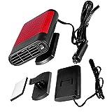 Dégivreur, Voiture 12V Fenêtre électrique Portable Chauffage Chauffage Sèche-glace Ventilateur Dégivreur Antibuée (Couleur : Red)
