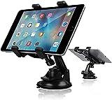 Support Telephone Voiture, Rotation 360° Porte Tablette Voiture, Téléphone Voiture Tableau de Bord/Pare-Brise Compatible Pour iPhone X XR XS Samsung S9 S10 Plus iPad Tablette GPS(4.7-10.5 Pouces)