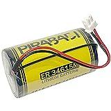Pile 3.6V D ER34615M 14500mah 14.5Ah SIRÈNE Alarme POWERMASTER VISONIC MCS 710 730 0-9912-K 09912K ER34615M/W200 ER34615MW200 ETC.