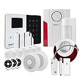 Atlantic'S - Alarme Maison sans Fil IP IPEOS KIT 13 MD-334R - Pack Alarme WiFi - Paramétrage à Distance