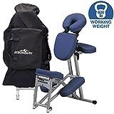 STRONGLITE Fauteuil de Massage Portable Ergo Pro II - Ultra résistant, léger et Pliable avec roulettes et étui de Transport (Poids de Travail 272,2 kg)