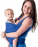 CuddleBug - Echarpe de Portage 9 en 1 - Porte Bébé jusqu'à 16kg - Mains Libres - Couverture de Portage Taille Unique - Douce - Flexible - Cadeau Naissance - (Bleue)