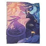 DRAGON VINES Pikachu Pokémon Couverture pour lit ou canapé Motif Umbreon et Espeon 180 x 230 cm