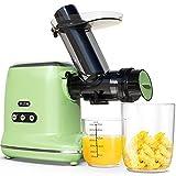 FEZEN Centrifugeuse Slow Juicer – Centrifugeuse puissante pour fruits et légumes Moteur silencieux & fonction inversée & carafe à jus & brosse de nettoyage, facile à nettoyer, recettes (vert)