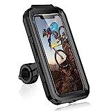 Faneam Universel Support Telephone Moto Etanche Support Téléphone Vélo Portable 360° Rotation Support Smartphone Moto Scooter Détachable, Porte Telephone Velo pour Smartphone 4,7-6,8 Pouces (L)