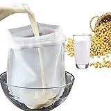 Rehomy Sac passoire réutilisable avec cordon de serrage pour la fabrication de fruits, de noix, de lait
