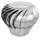 PrimeMatik - Extracteur de fumées Rotatif galvanisé pour poêle pour Tube de 250 mm de diamètre