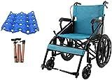 Busirsiz Fauteuil roulant pliable et autopropulsé avec accoudoirs et repose-pieds amovibles Largeur d'assise 70 cm Poids maximum supporté 100 kg