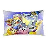 zhenglongbaihuodian Taie d'oreiller Anime Kirby Retour à Dreamland taies d'oreiller rectangulaires Jeter Housses de Coussin taie d'oreiller pour Voiture canapé-lit Maison 16x24 Pouces