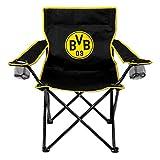 Borussia Dortmund Campingstuhl DS Direct BVB Chaise de Camping avec Logo Mixte-Adulte, Noir/Jaune, Taille Unique