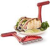 Duyifan 2pcs Taco Toaster Crispy Taco Shell Tool, des coquilles de Taco croustillantes et saines mexicaines sont sur Votre Grille-Pain, Crispy Healthy Tortilla Tacos Shell Makers
