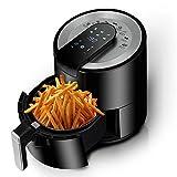 XQKQ Friteuse à air numérique, friteuse sans Huile IR 5.5L, Four à friteuse à Frites 1500W avec 6 préréglages de Cuisson, écran Tactile numérique à LED, minuterie et contrôle de la température, p