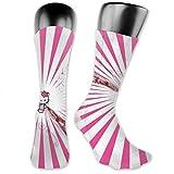 LaoJiNan-shop Belles chaussettes de comprion Hello Kitty chaussettes de football chaussettes hautes chaussettes longues sport en plein air pour hommes femmes