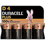 Duracell - NOUVEAU Piles alcalines D Plus, 1.5 V LR20 MN1300, paquet de 4