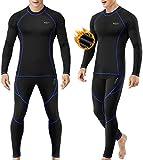MOBIUSPHY sous-Vêtement Thermique Homme Ensemble de sous-vêtements Thermiques S
