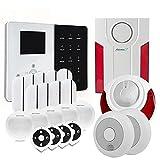 Atlantic'S - Alarme Maison sans Fil IP IPEOS KIT 10 - Pack Alarme WiFi - Paramétrage à Distance