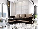 MebLiebe Canapé d'angle avec Fonction lit Sydney 242 x 152 x 85 cm
