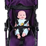 Ceinture de harnais de siège d'enfant, ceinture universelle de harnais de siège de bébé poussette protection de rotation de poussette d'enfants