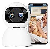 Caméra de Surveillance WiFi, Caméras de sécurité Bextgoo 1080P d'intérieur avec Double Objectif, Pan/Tilt/Zoom, Caméra IP avec détection de Mouvement, Suivi Automatique, Vision Nocturne
