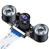 MakerHawk Caméra Raspberry Pi Caméra de Vision Nocturne Module à focale réglable 5MP OV5647 Webcam vidéo 1080p pour Raspberry-pi 2 Raspberry-pi 3 Modèle B Modèle B + Modèle 3B +