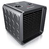 Brandson - Chauffage soufflant en céramique 1500 watts - 2 niveaux de chauffage - Contrôle de la température - thermostat intégré - Fusible thermique - Fonction ventilateur - Faible consommation