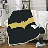 DAKEAI Couverture d'animation DC pour Enfants,Super héros,Plaid Batman The Dark Knight,Impression 3D,Jeter Couvre-Lit Polaire,Marvel Plaid Voyage (4,130×150cm)