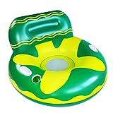 Sayiant Canapé gonflable écologique pour adultes, gamme flottante pour chaise longue gonflable avec dossier et porte-gobelet, 105 x 70 cm