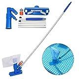 Mini aspirateur à jet pour piscine, avec brosse, sac et 5 bâtons – mini aspirateur à jet portable avec une tête nettoyante pour piscine domestique et spa