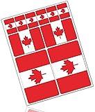 Biomar Labs 10 x PVC Autocollant Voiture Auto Moto Drapeau National Canada Canadien Flag D 31
