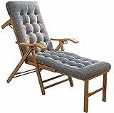 FBRNYQPM Bambou Chaises Longues, Chaise Longue de Jardin, Chaise d'extérieur avec Repose-Pieds, Chaise Longue Dossier réglable, pour Plage et Jardin