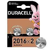 Duracell 2016 Pile bouton lithium 3V, lot de 2, avec Technologie Baby Secure, pour porte-clés, balances et dispositifs portables et médicaux (DL2016/CR2016)