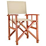Deuba - Chaise de Jardin « Cannes » - Crème - Pliable - Bois d'eucalyptus certifié FSC - pré-huilé - Design régisseur - Fauteuil