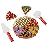 Jouet Pizza Fruits Légumes Coupe Pretend Play Kit,Enfants Jeu De Simulation De Cuisine Jouet Educatif Simulation de Jouets de Coupe de Pizza