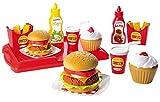 Jouets Ecoiffier – 2623 - Set Hamburger pour enfants – Imitations d'aliments – 36 pièces – Dès 18 mois – Fabriqué en France