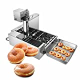 Machine de fabrication de beignets automatique commerciale, trémie automatique de fabricant de beignets à 4 rangées de 5,5 L, friteuse de beignets pour supermarché, boulangerie, snack-bar
