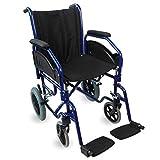 Mobiclinic, Maestranza, Fauteuil roulant pliant, Accoudoirs et repose pieds amovibles, Orthopédique, Largeur du siège 45 cm, noir